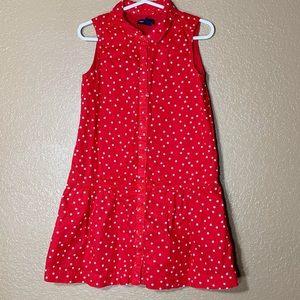 Gap toddler girl red dress with white stars